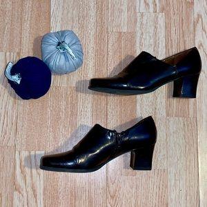 Franco Sarto Shoes - Franco Sarto Women's Brown Zip Heels Shoes 8